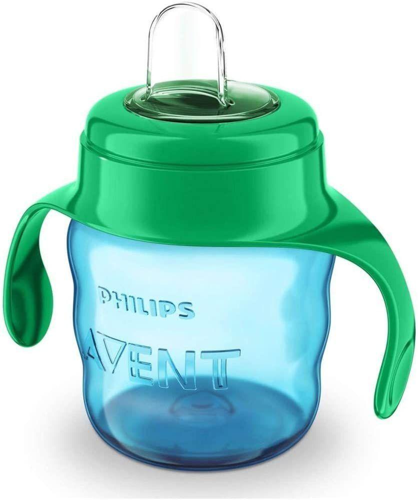 Copo De Transição Easy Sip Com Alça 200ml Azul Philips Avent