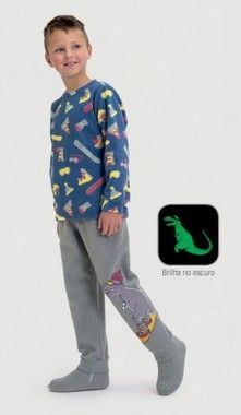 Pijama De Microsoft Infantil Snowboard Dedeka
