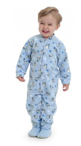 Macacão Bebê Microsoft Bonecos De Neve Azul Dedeka