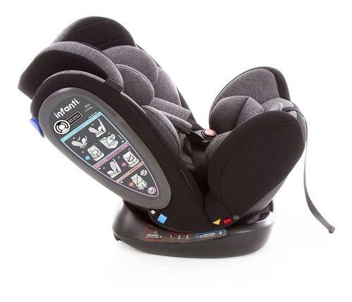 Cadeirinha Para Auto Vita Grey Fuzz 0 A 36kg Infanti