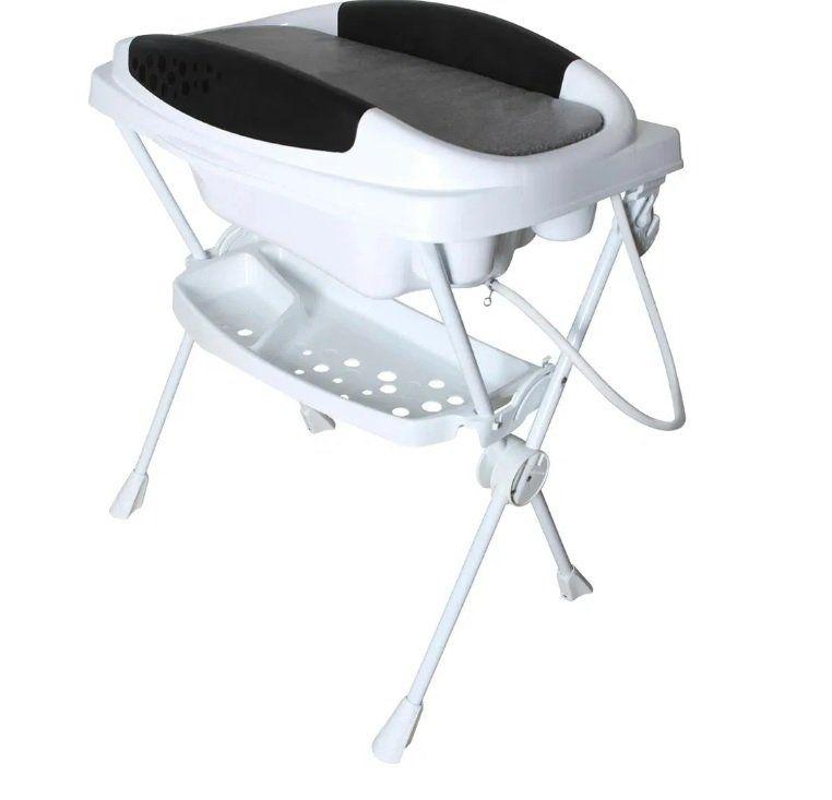 Banheira Plástica Dobrável Bebê Premium Cor Grafite Galzerano