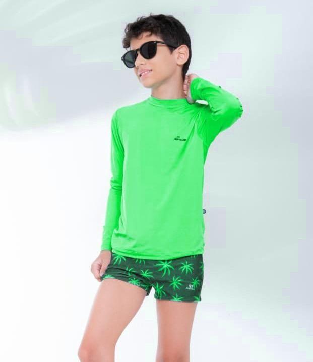 Blusa De Proteção Verde Ondas