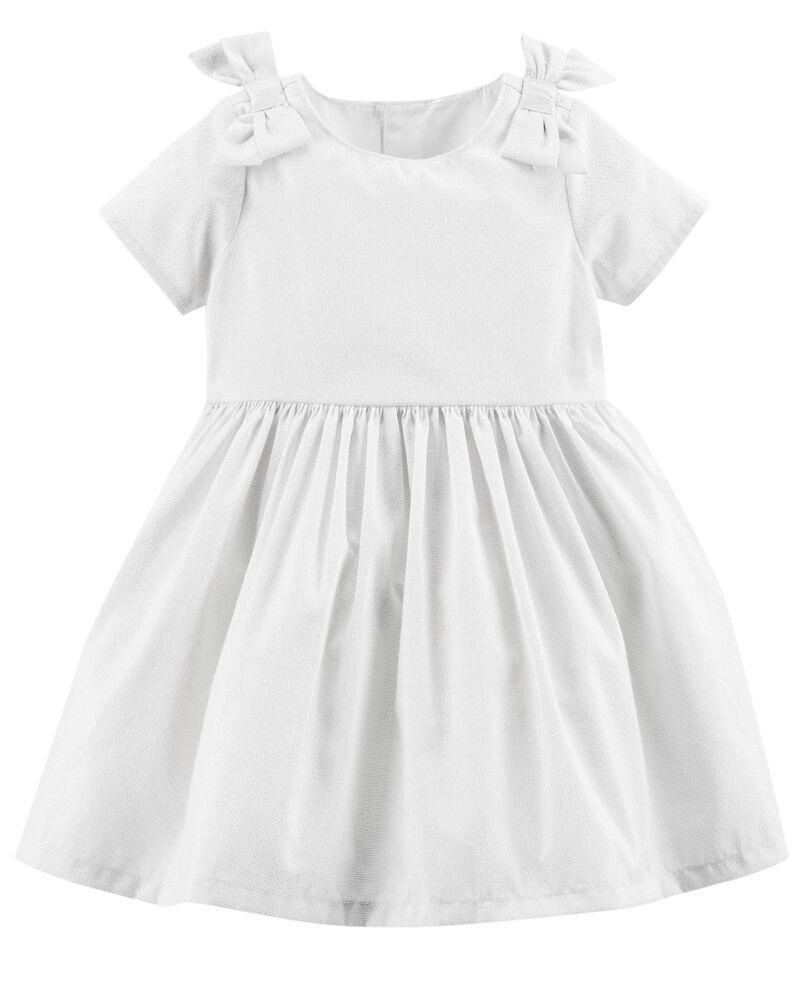 Vestido De Festa Com Calcinha Off White Arco Metálico Carter's