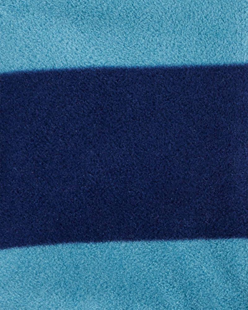 Conjunto 3 Peças Colete Fleece Listrado Azul Carter's