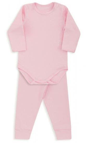 Conjunto De Body Bebê Térmico Rosa Dedeka