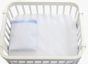 Jogo De Lençol 2pçs Mini Kit Azul Bebê Brubreleu Baby