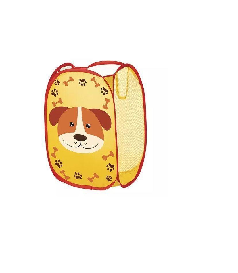Cesto Organizador Telado Cachorro Amarelo Art House Kids