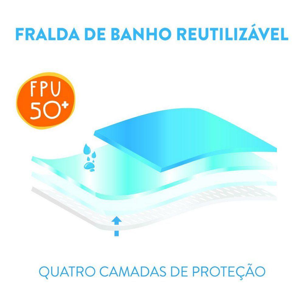 Fralda De Banho & Piscina Reutilizável Zebra Rosa 50+FPU Ecokids Place