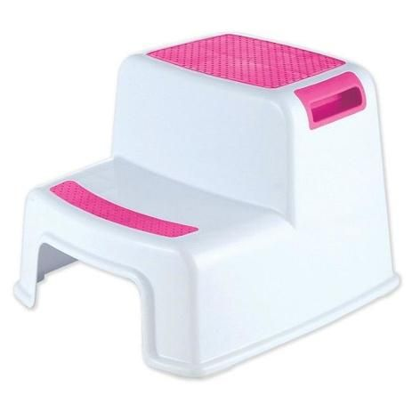 Banquinho De Banheiro 2 Degraus Rosa KaBaby