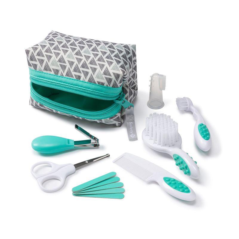 Kit Cuidados Do Bebê Verde Acqua White 7 Itens Safety 1st