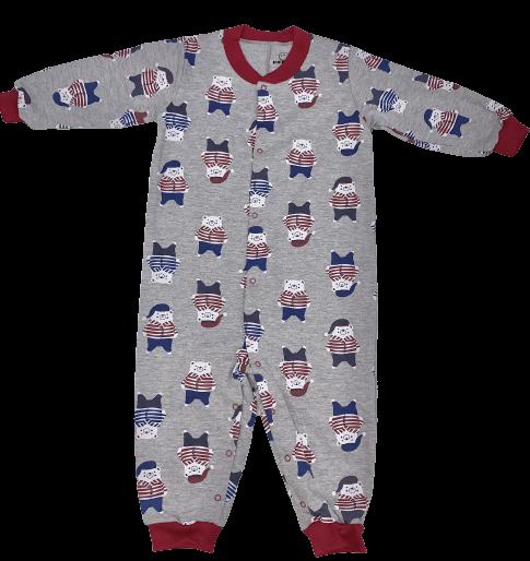 Macacão De Moletinho Ursos De Pijama Dedeka