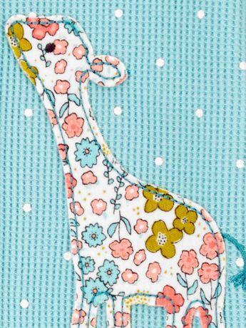 Macacão Com Pé De Malha Térmica Waffle Girafa Azul Child Of Mine By Carter's