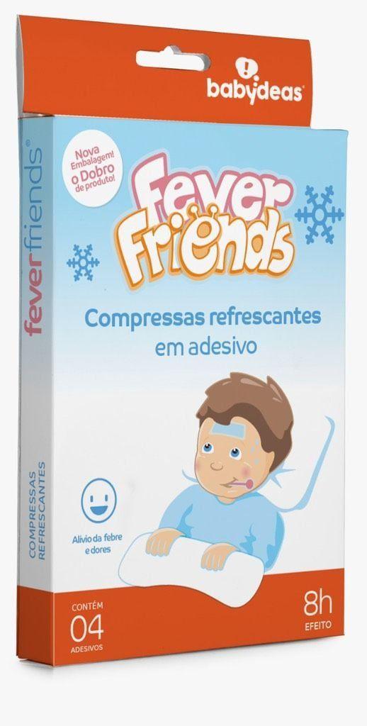 Fever Friends Compressas Refrescantes Para Febre Em Adesivo Babydeas