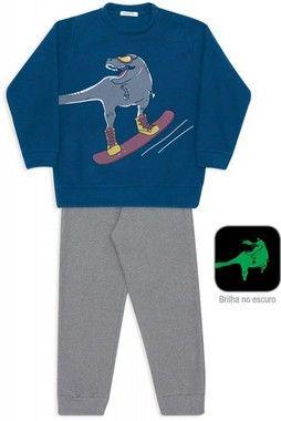 Pijama Microsoft Snowboard Marinho Dekaka