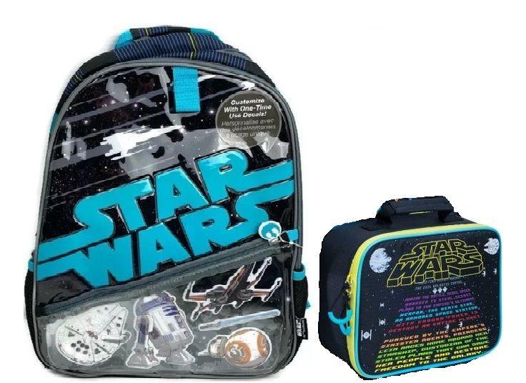 Mochila E Lancheira Star Wars Preto Disney