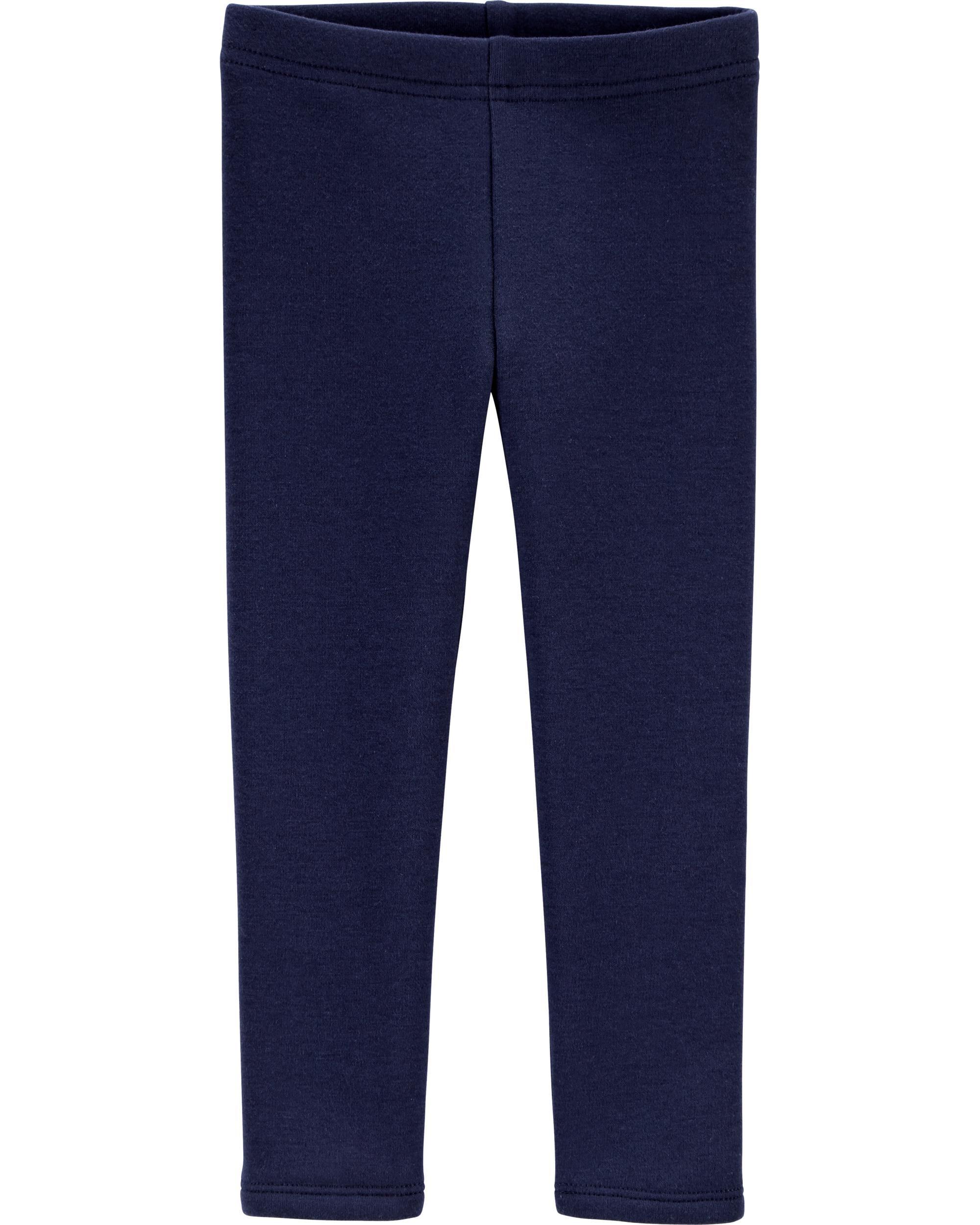 Calça De Algodão Com Forro de Fleece Azul Marinho Liso OshKosh B'gosh
