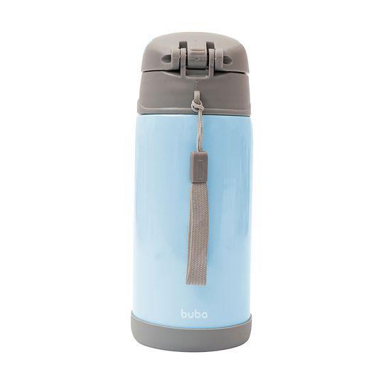 Garrafa Térmica Parede Dupla 400 Ml Azul Buba
