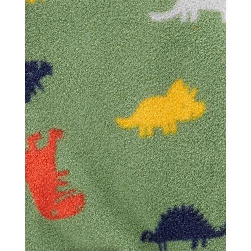 Macacão Fleece Com Zíper Dinossauros Verde Carter's Baby