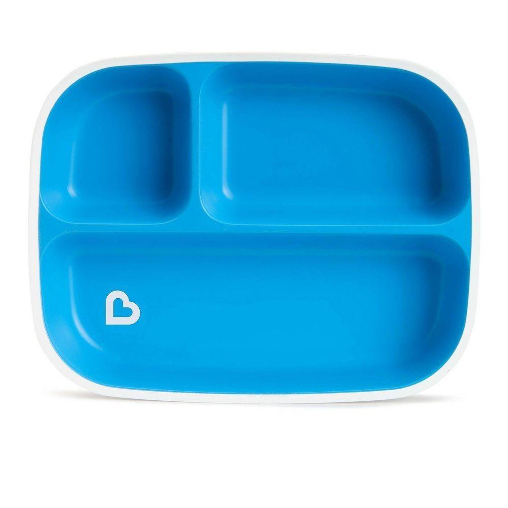Prato Com Divisórias Azul Munchkin