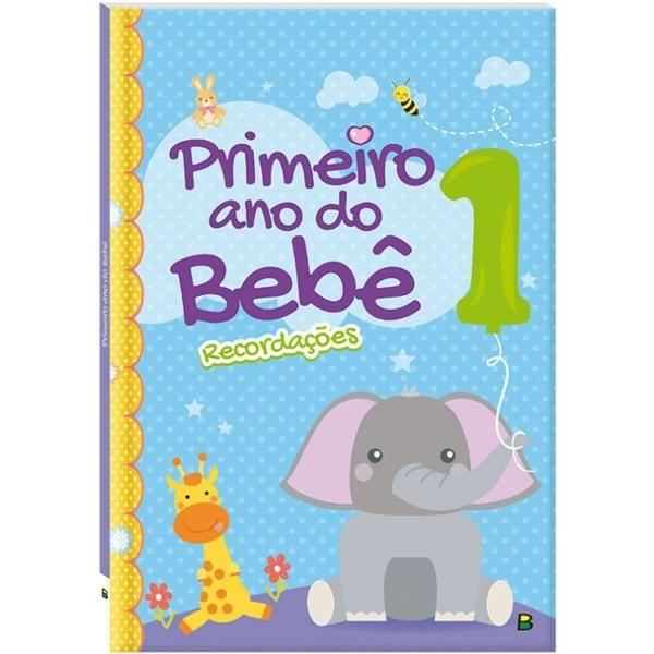 Livro De Recordações Capa Acolchoada Primeiro Ano Do Bebê Brasileitura