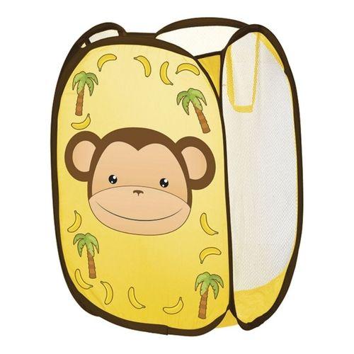 Cesto Organizador Telado Macaco Amarelo Art House Kids