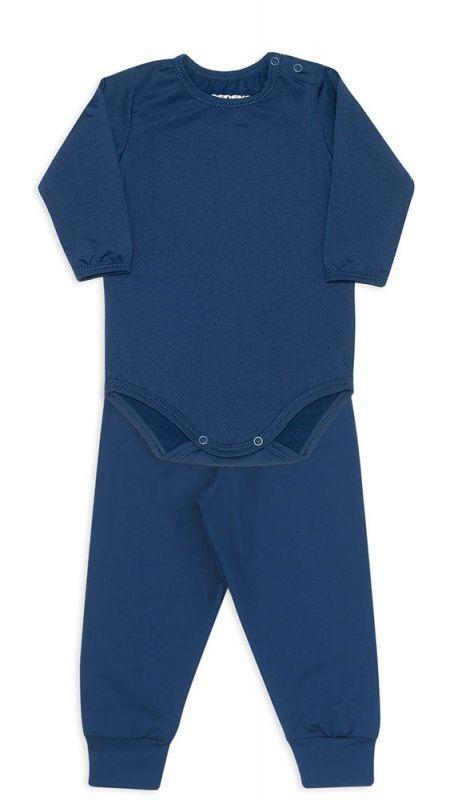Conjunto De Body Bebê Térmico Azul Marinho Dedeka