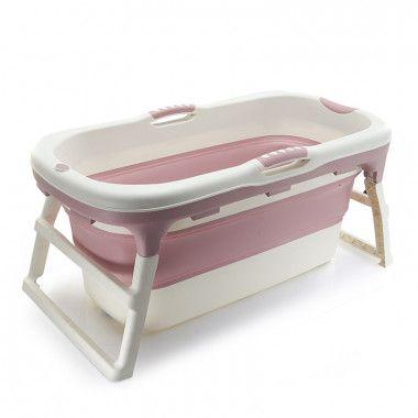 Banheira de Plástico Grande Rosa Baby Pil