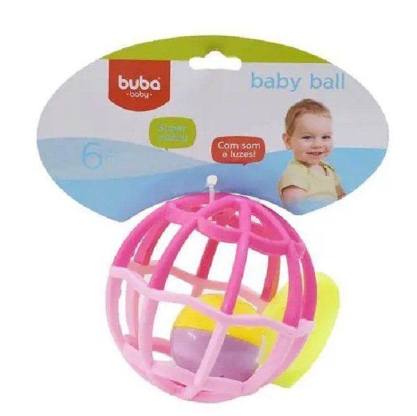 Baby Ball Luz e Som Rosa Buba