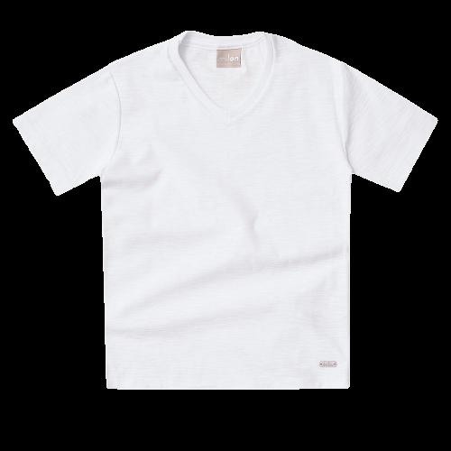 Camiseta De Algodão Branca Milon
