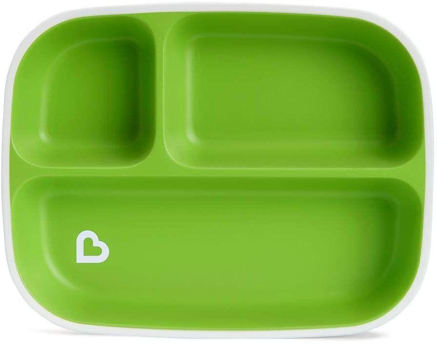 Prato Com Divisórias Verde Munchkin