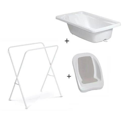 Banheira Plástica Para Bebê Acqua Trio Branca Galzerano