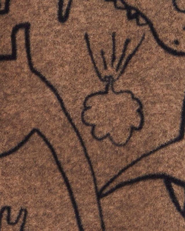 Macacão Fleece Com Pé Dinossauros Marrom Carter's