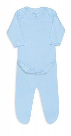 Conjunto De Body De Ribana Com Pé Azul Bebê Dedeka