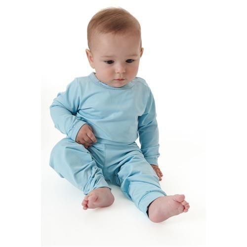 Conjunto De Body Bebê Térmico Azul Bebê Dedeka
