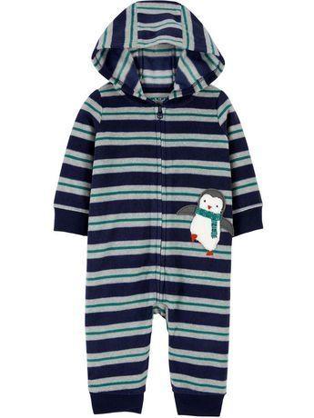 Macacão Fleece Sem Pezinho Pinguim Child Of Mine By Carter's