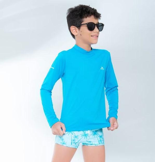 Blusa De Proteção Azul Claro Rio Ondas