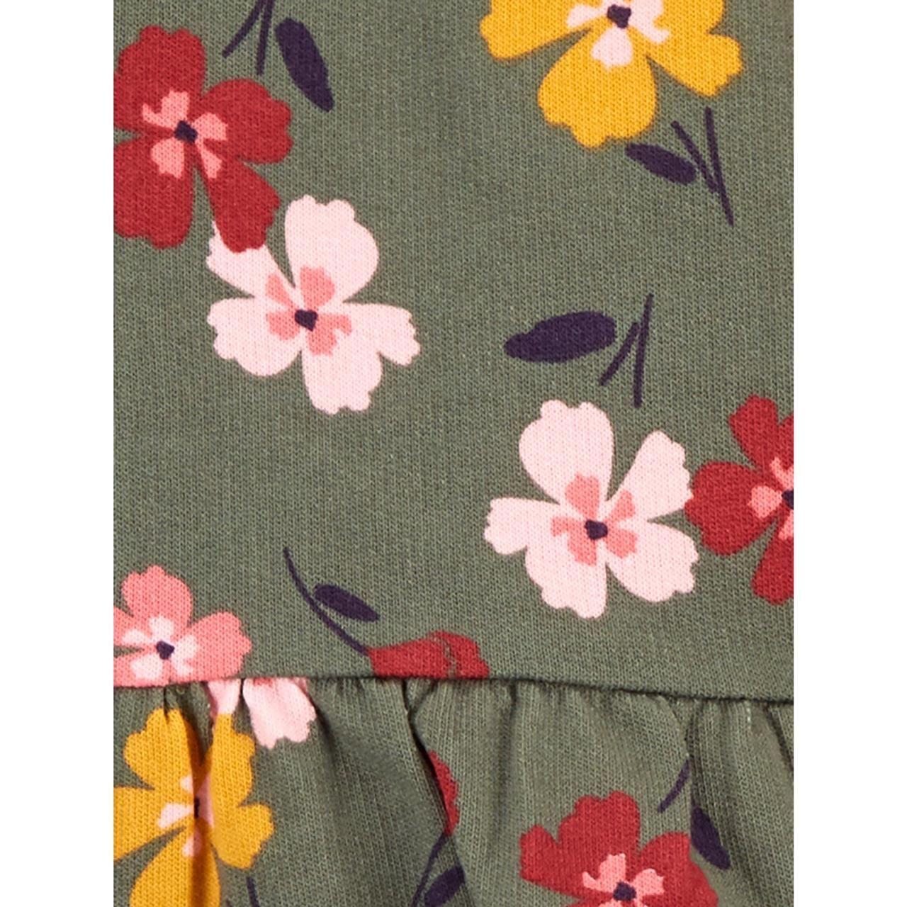 Conjunto 3 Peças De Algodão Floral Verde Musgo Child Of Mine By Carter's