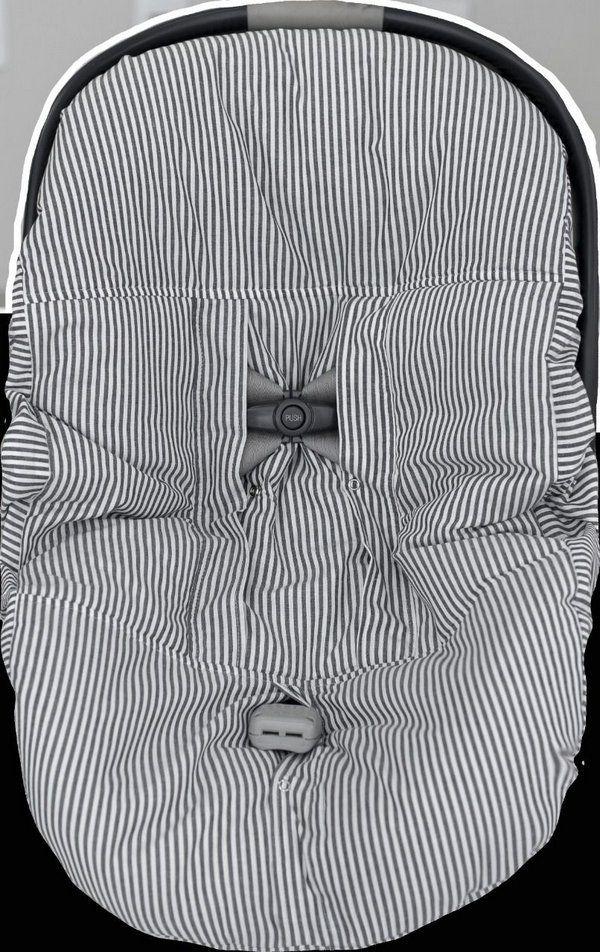Capa De Bebê Conforto Dupla Face Soho Branco C/ Preto Aime