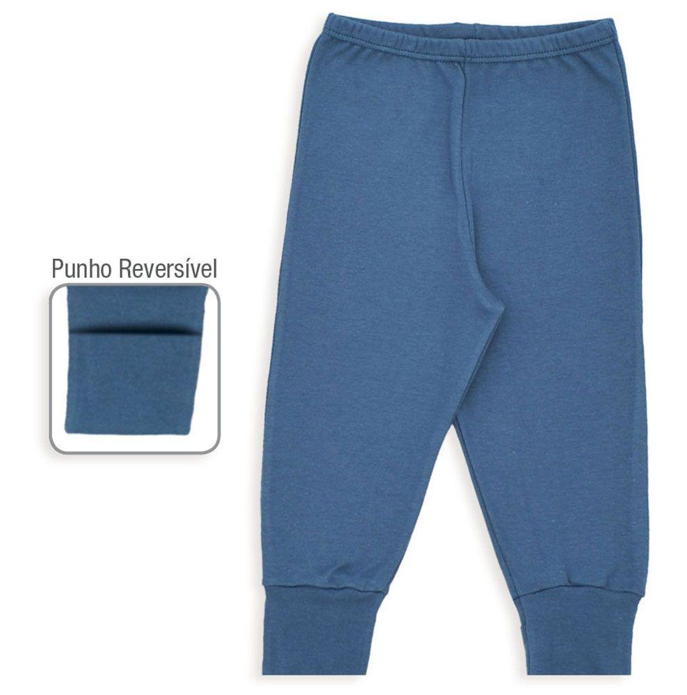 Culote De Ribana Com Punho Reversível Azul Marinho Dedeka