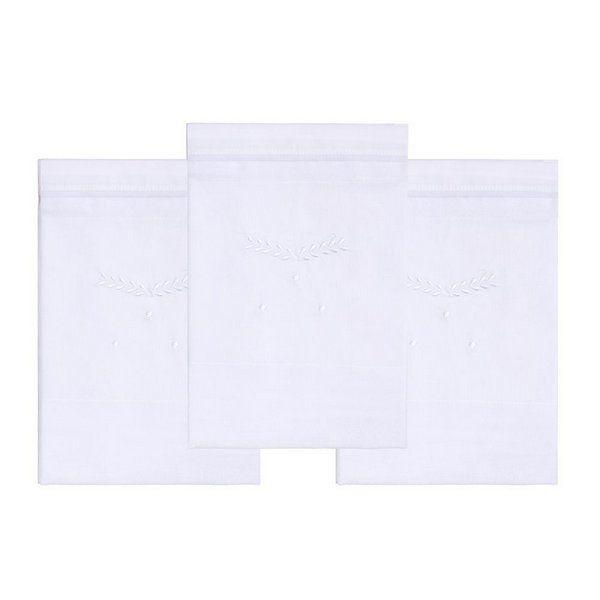 Fralda Bordada Clássicos Branca 68cm X 66cm Mami