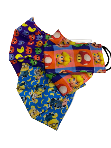 Kit 3 Máscaras Infantis (Estampas Sortidas - Menino)