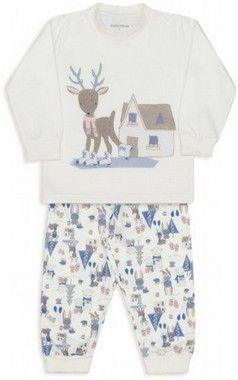 Pijama De Moletinho Bichinhos Na Neve Branco Dedeka