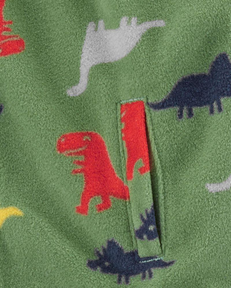 Conjunto 3 Peças De Fleece Colete Dinossauros Verde Carter's