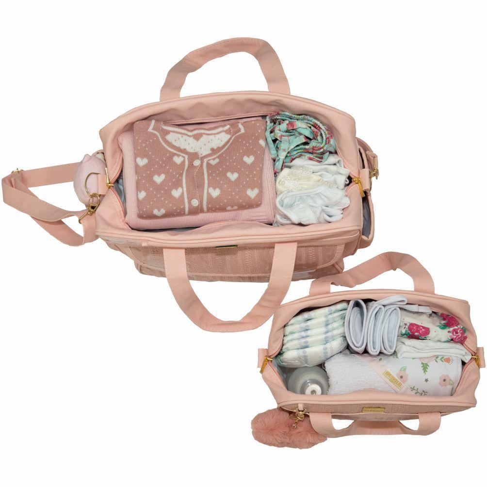Bolsa Maternidade Conjunto 2pçs  Tricot Lovers Rosa Brubrelel Baby