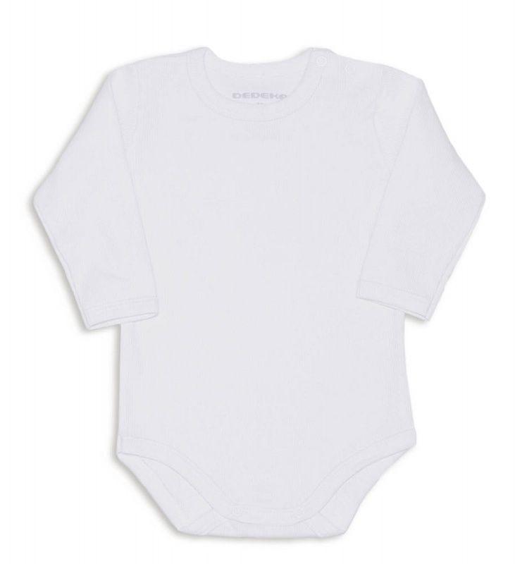 Body Bebê Canelado Branco Dedeka