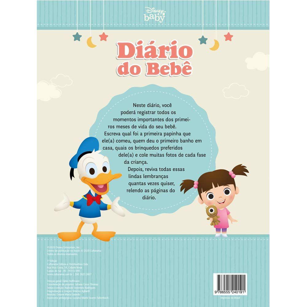 Livro De Registros Capa Dura Diário Do Bebê Culturama Disney Baby