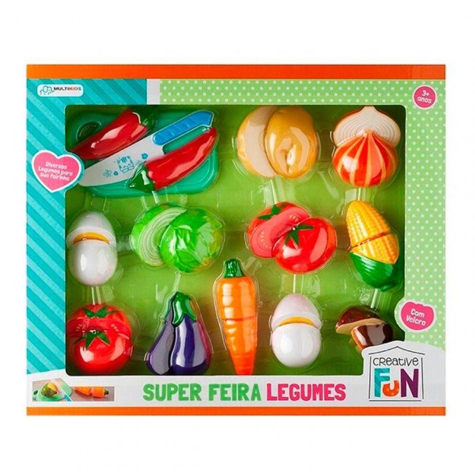 Super Feira Legumes 3Anos+ Creative Fun Multikids