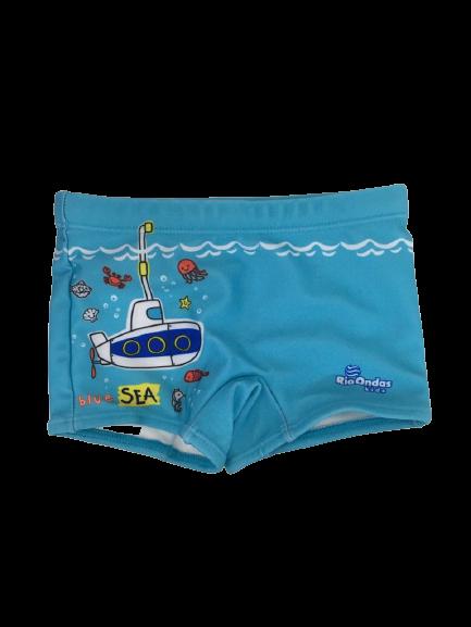 Sunga Box Submarino Azul Rio Ondas