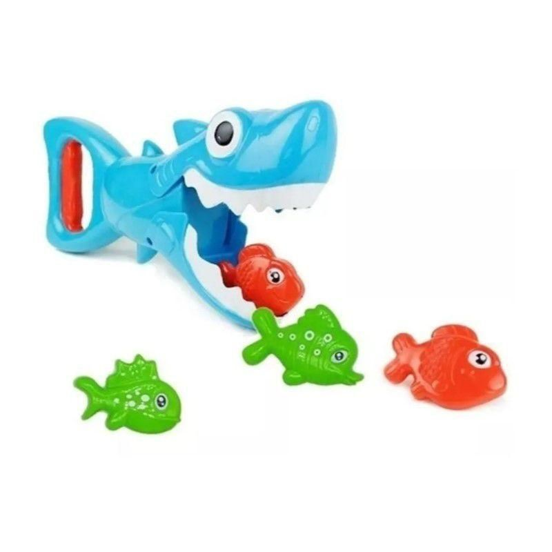 Brinquedo De Banho Tubarão Pega Peixinhos Buba