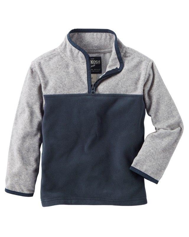 Agasalho De Fleece Azul E Cinza OshKosh